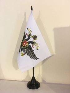 1ST THE QUEENS DRAGOON GUARDS  TABLE FLAG (MEDIUM 22.5cm x 15cm)